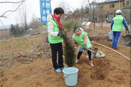 安然集团总部、山东分公司公益植树活动盎然开启